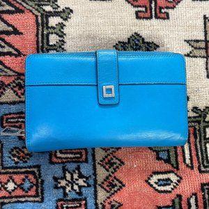 Lodis Leather Wallet Zipper Large Card Holders EUC